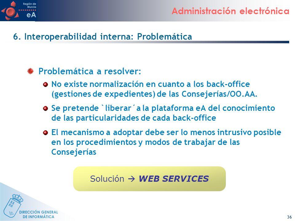 6. Interoperabilidad interna: Problemática