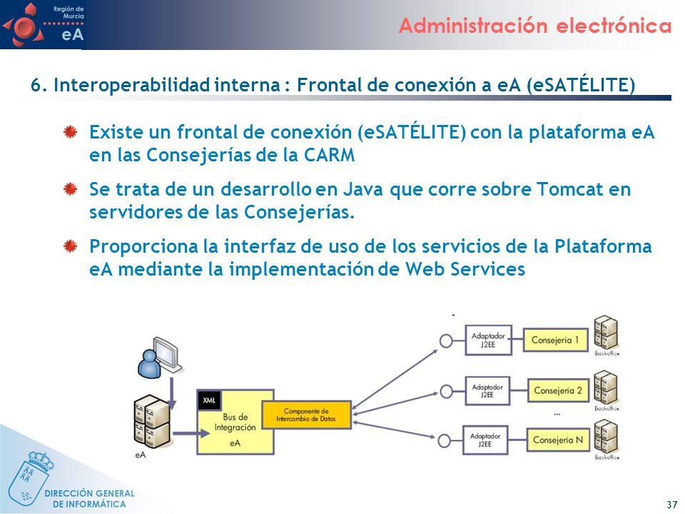 6. Interoperabilidad interna : Frontal de conexión a eA (eSATÉLITE)