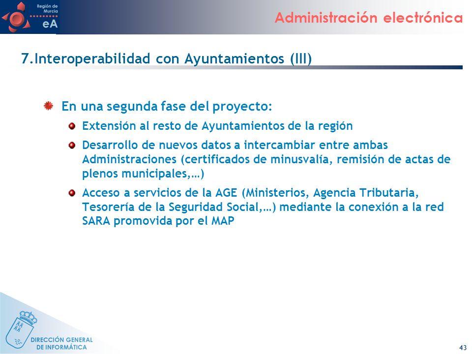7.Interoperabilidad con Ayuntamientos (III)