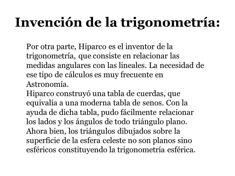 Invención de la trigonometría: