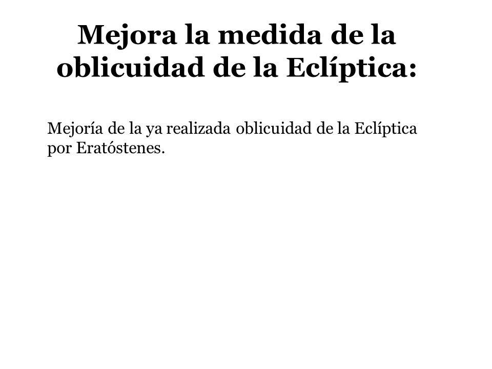 Mejora la medida de la oblicuidad de la Eclíptica: