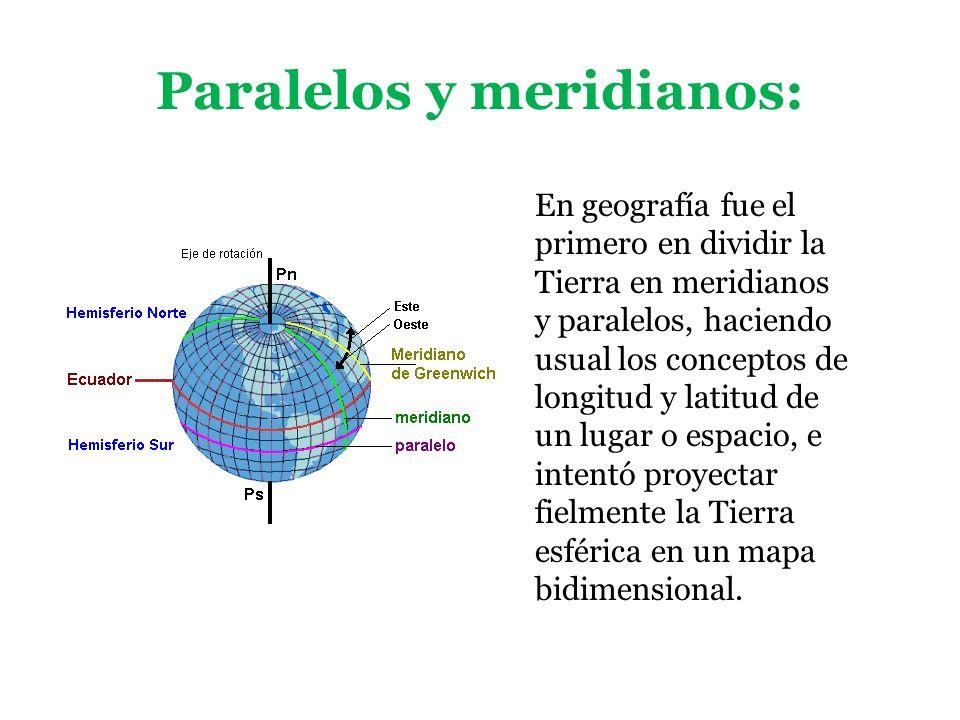 Paralelos y meridianos: