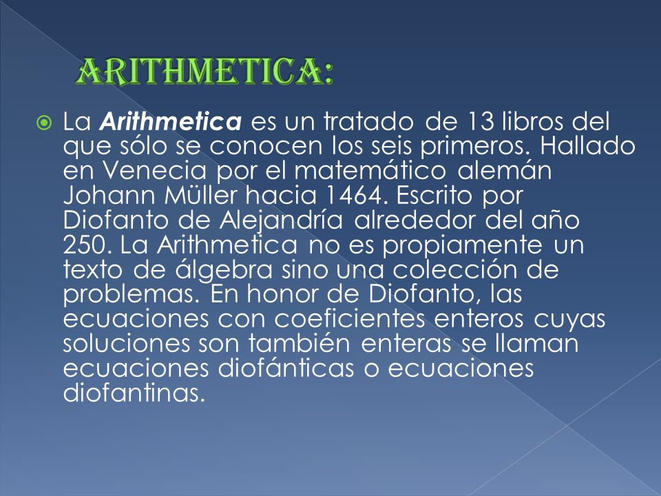 Arithmetica: