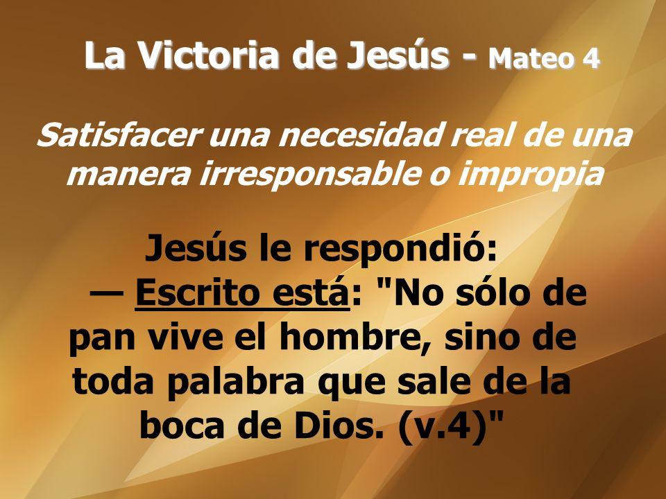 La Victoria de Jesús - Mateo 4