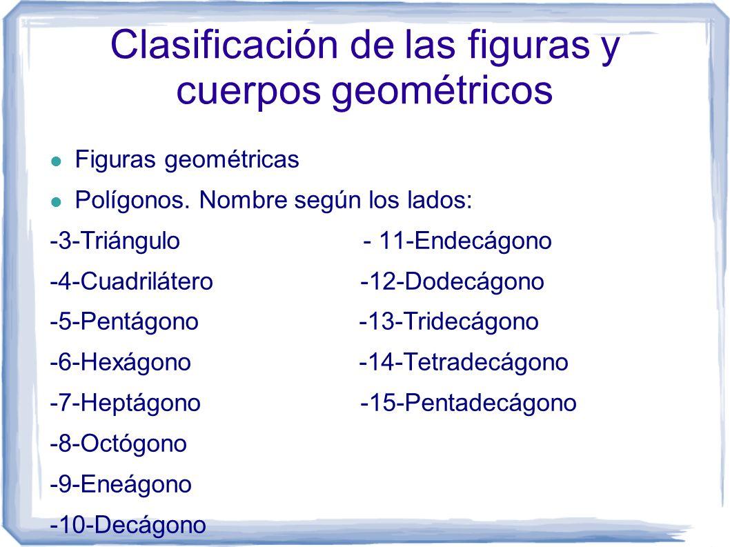 Clasificación de las figuras y cuerpos geométricos