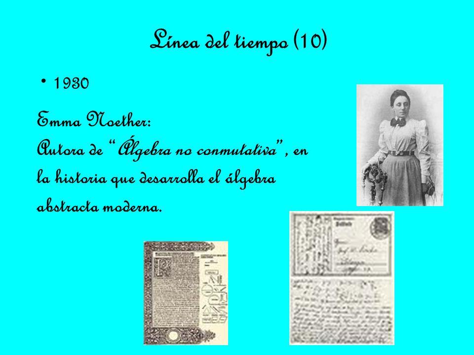 Línea del tiempo (10) 1930 Emma Noether: