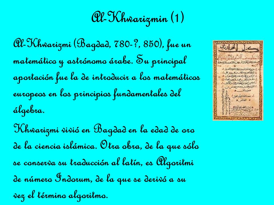 Al-Khwarizmin (1)