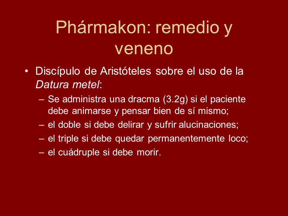Phármakon: remedio y veneno