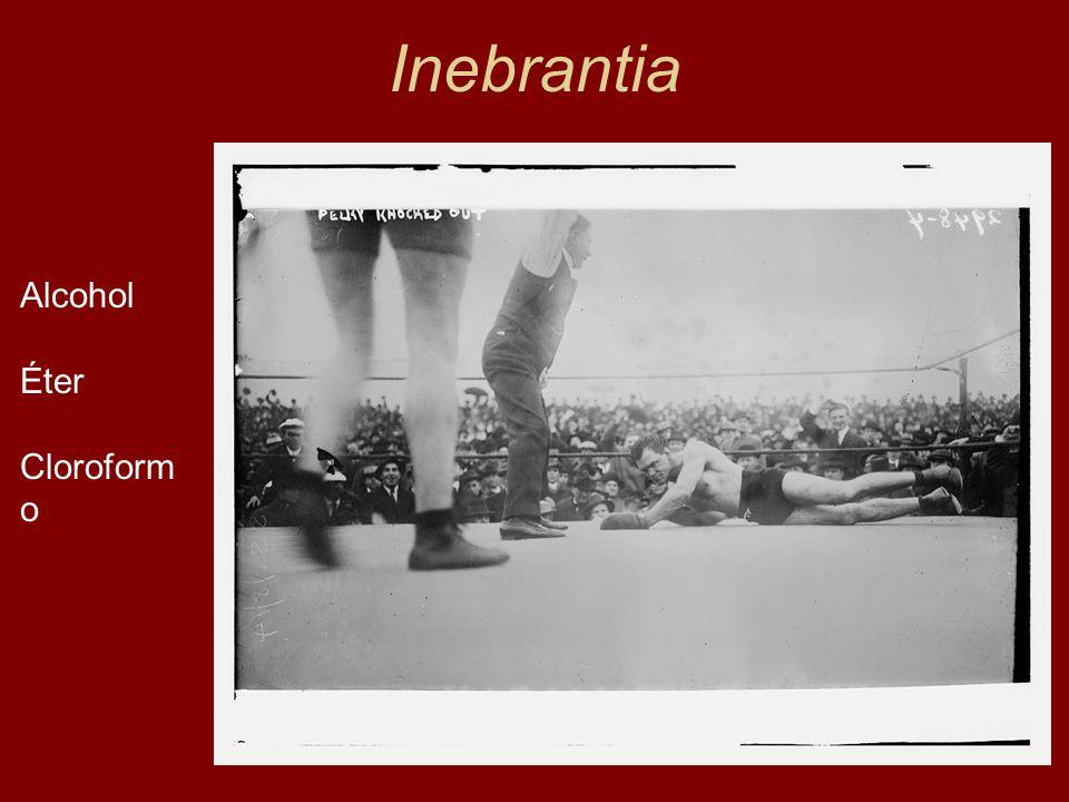 Inebrantia Alcohol Éter Cloroformo Lewin, 1924