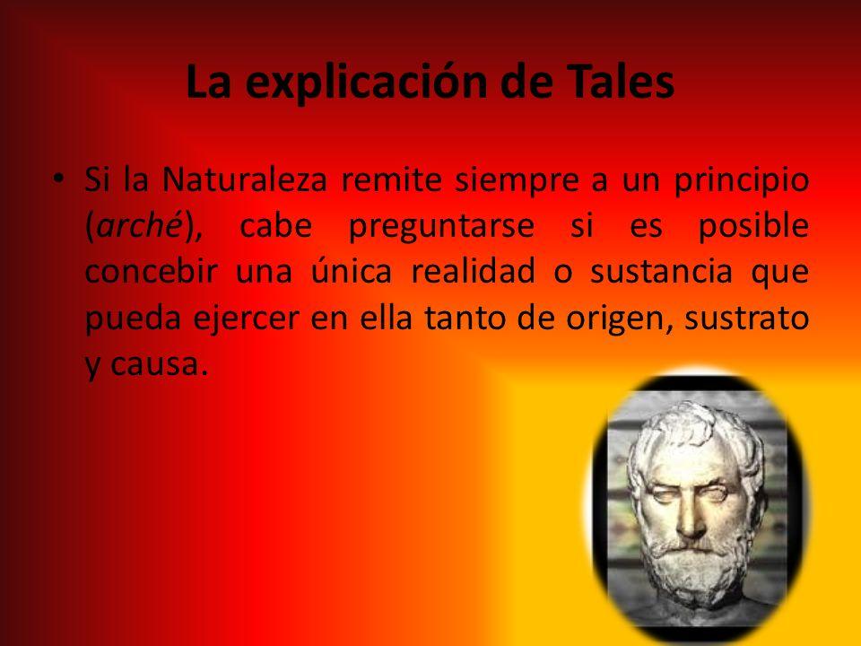 La explicación de Tales