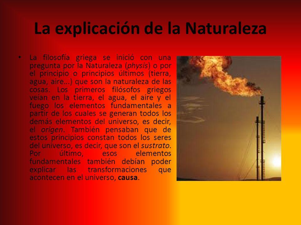 La explicación de la Naturaleza