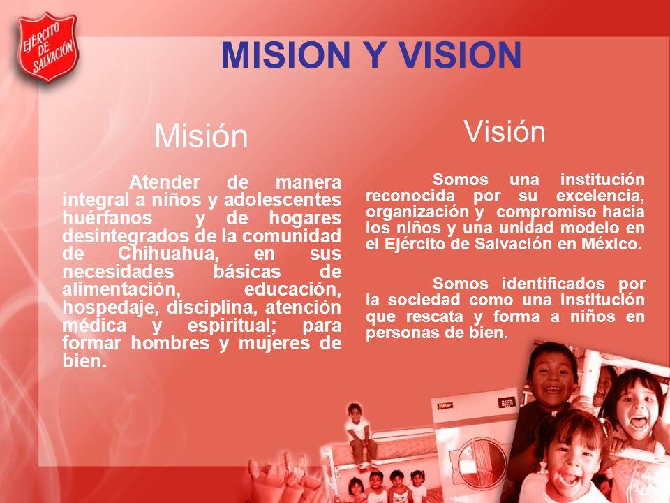 MISION Y VISION Misión Visión