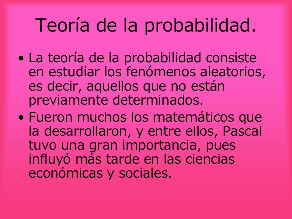 Teoría de la probabilidad.