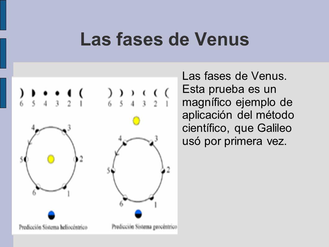 Las fases de Venus Las fases de Venus.