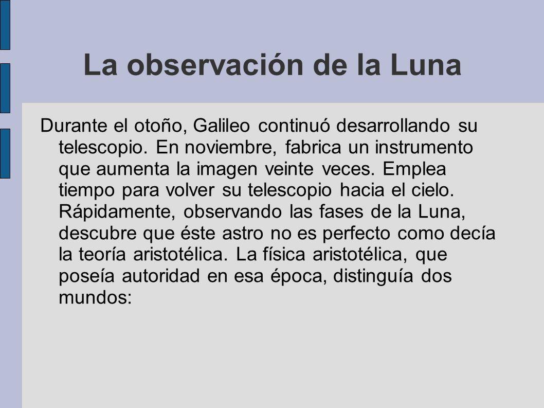 La observación de la Luna