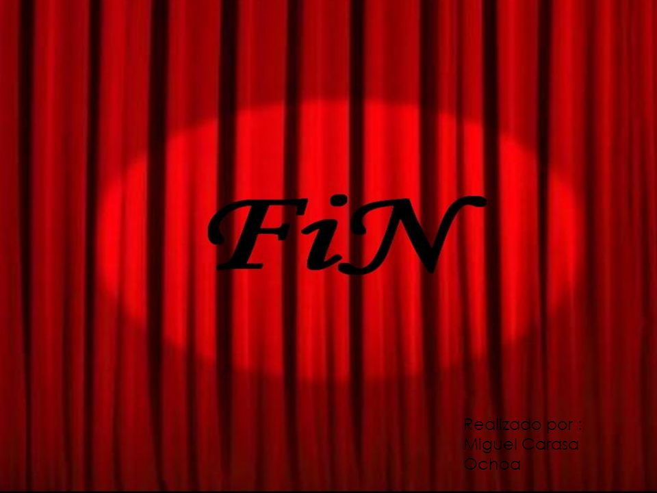 FIN Realizado por : Miguel Carasa Ochoa