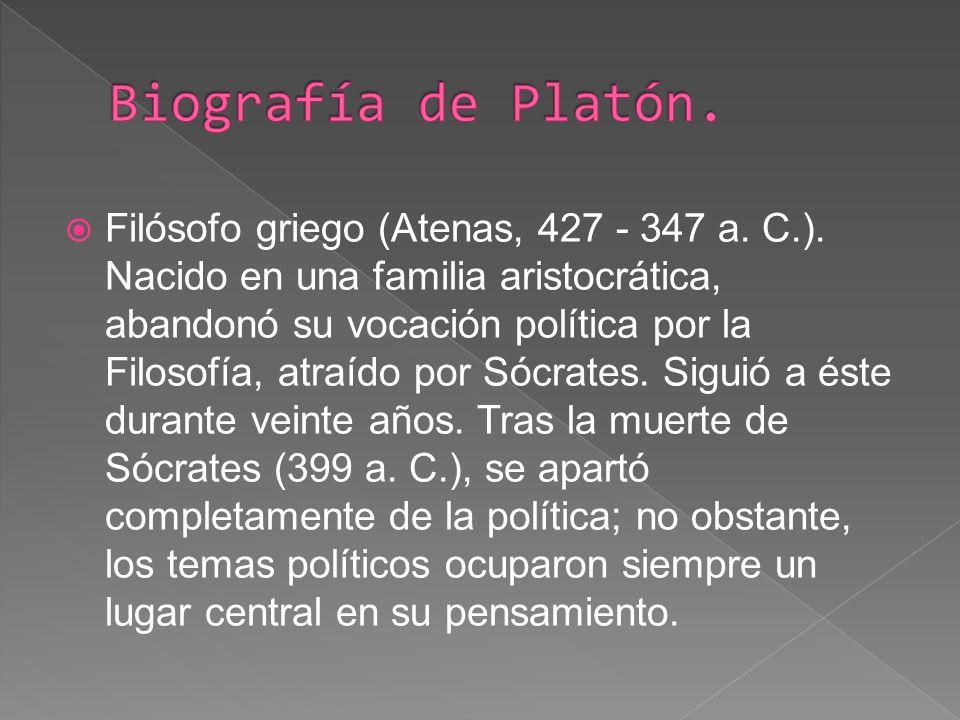 Biografía de Platón.