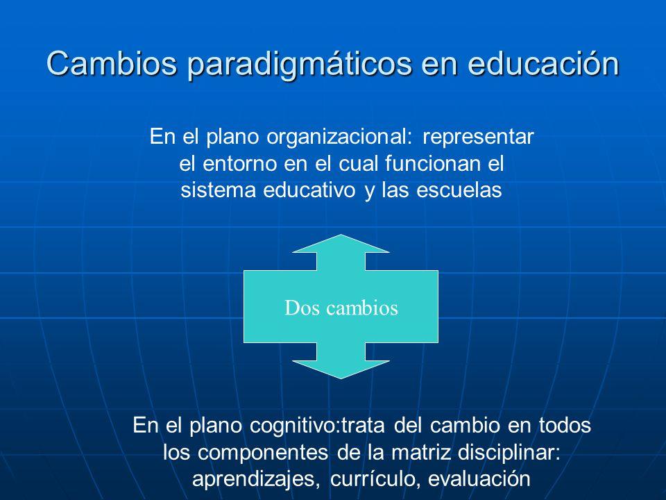 Cambios paradigmáticos en educación