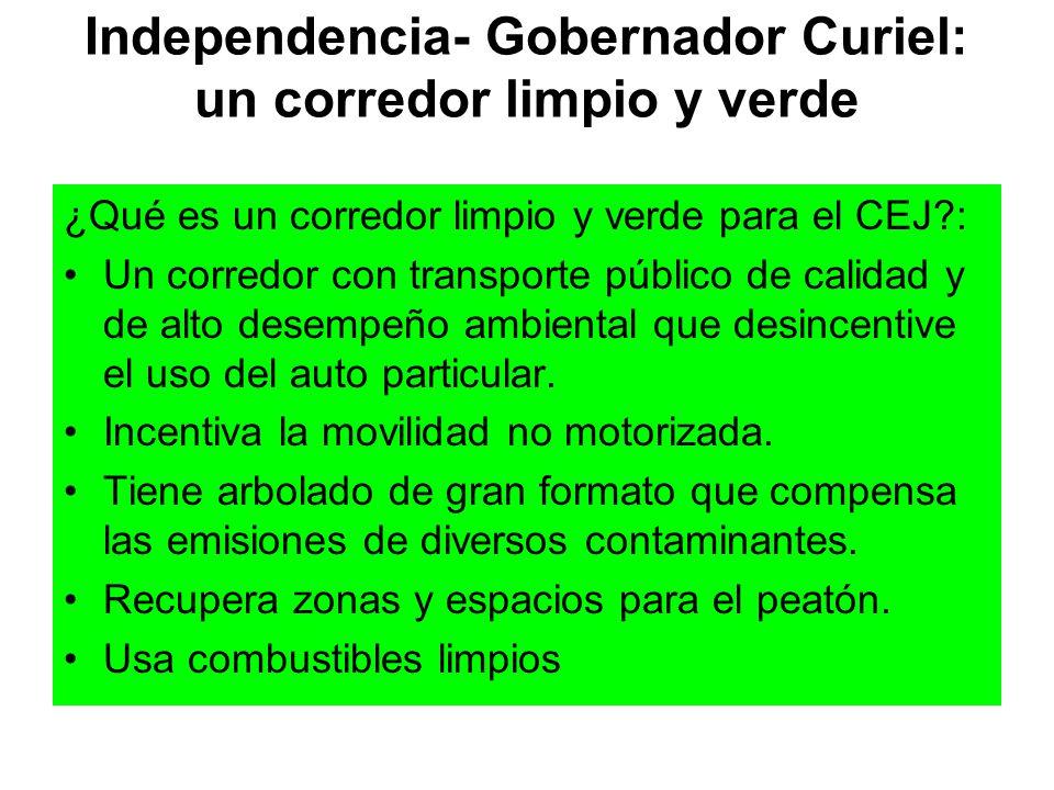 Independencia- Gobernador Curiel: un corredor limpio y verde