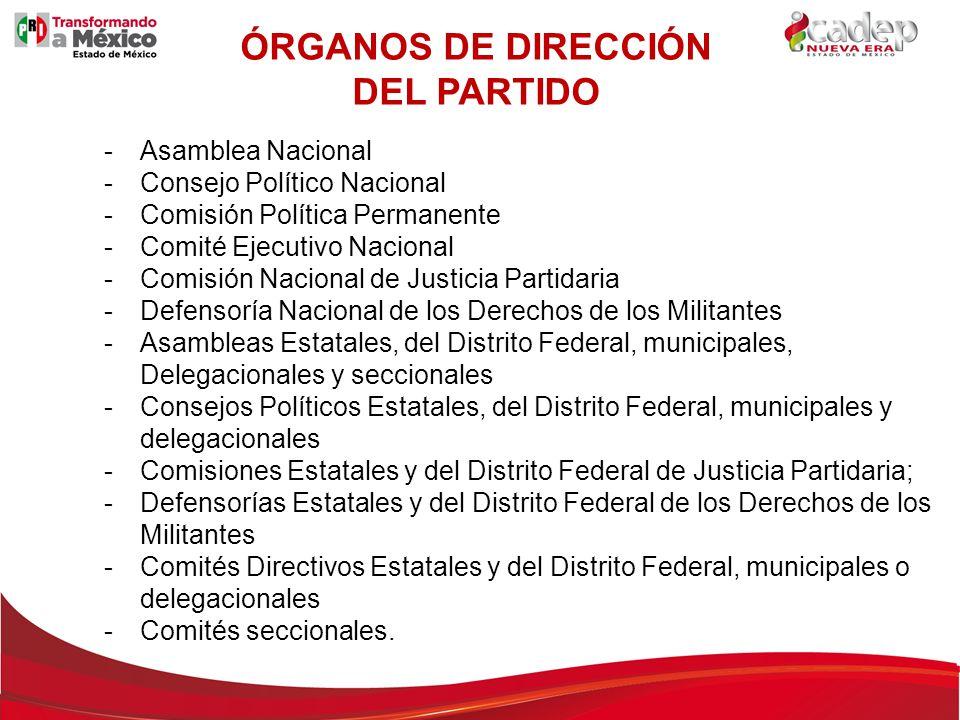 ÓRGANOS DE DIRECCIÓN DEL PARTIDO