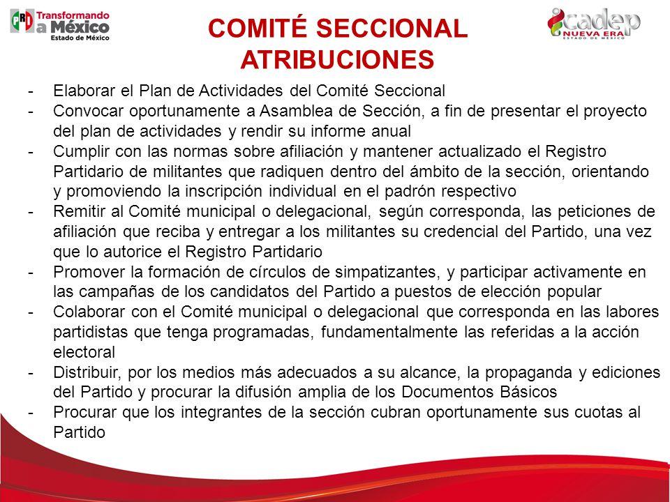 COMITÉ SECCIONAL ATRIBUCIONES