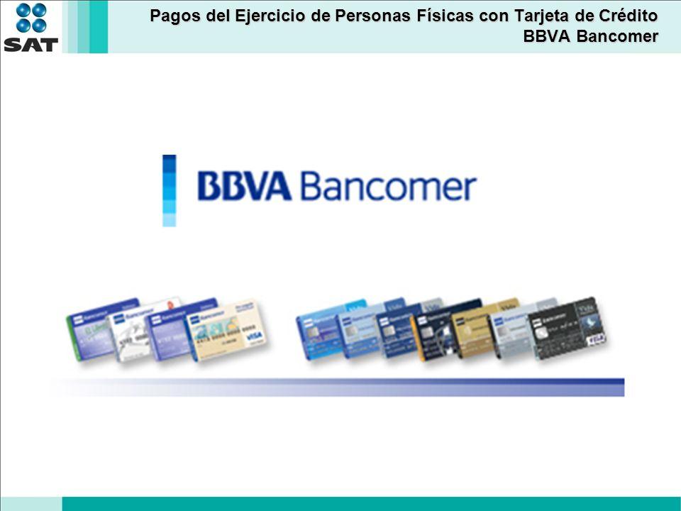 Pagos del Ejercicio de Personas Físicas con Tarjeta de Crédito