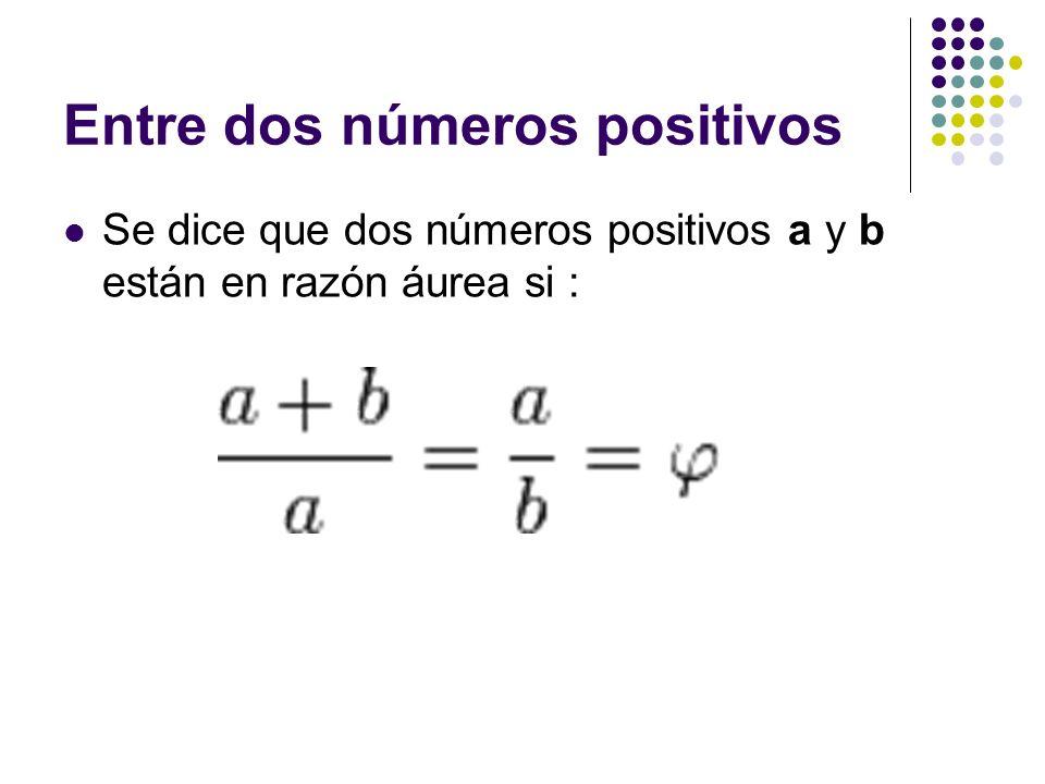 Entre dos números positivos