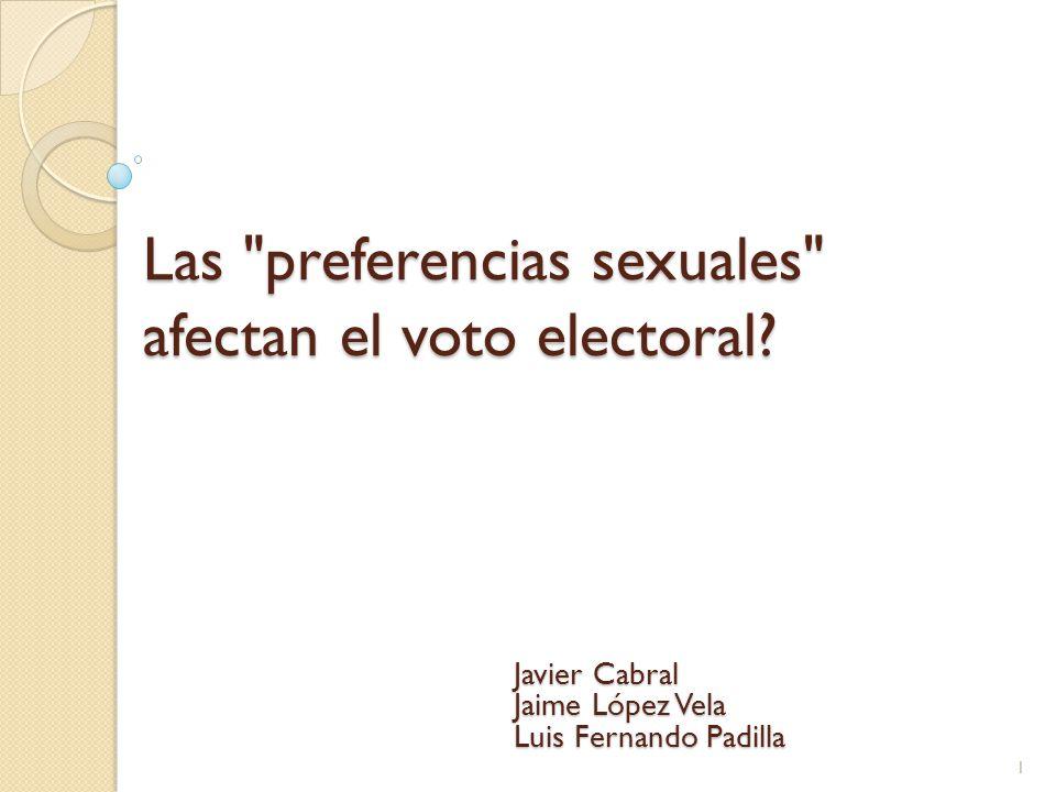 Las preferencias sexuales afectan el voto electoral