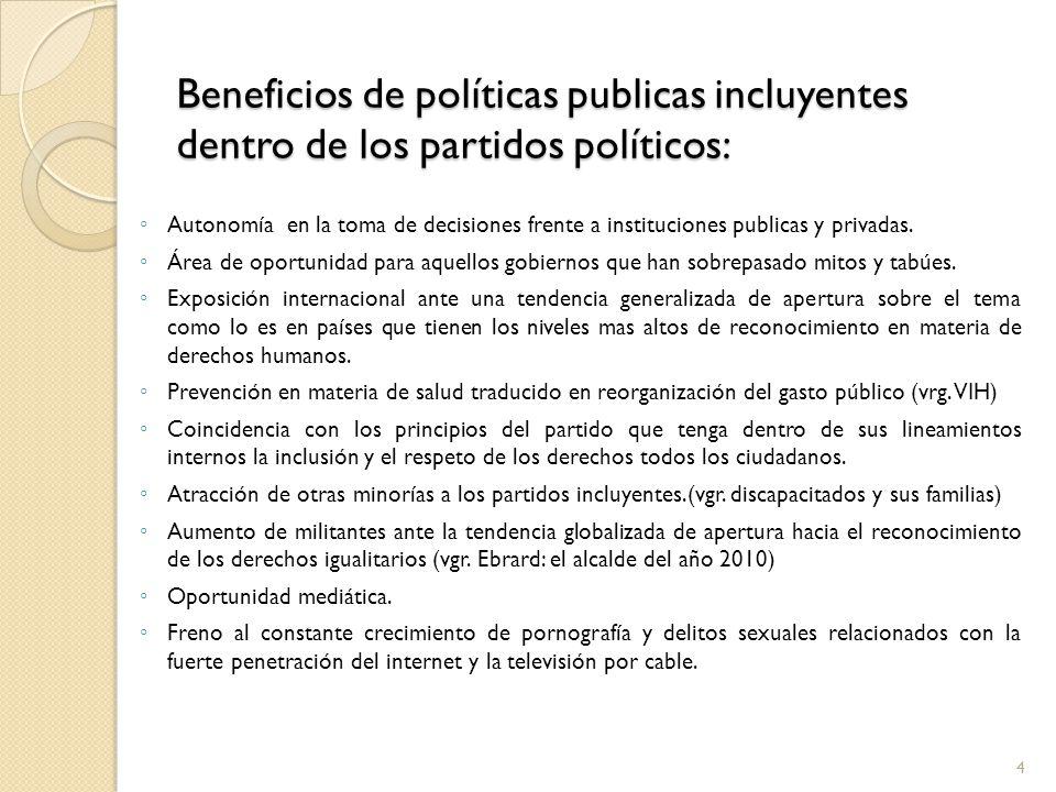 Beneficios de políticas publicas incluyentes dentro de los partidos políticos: