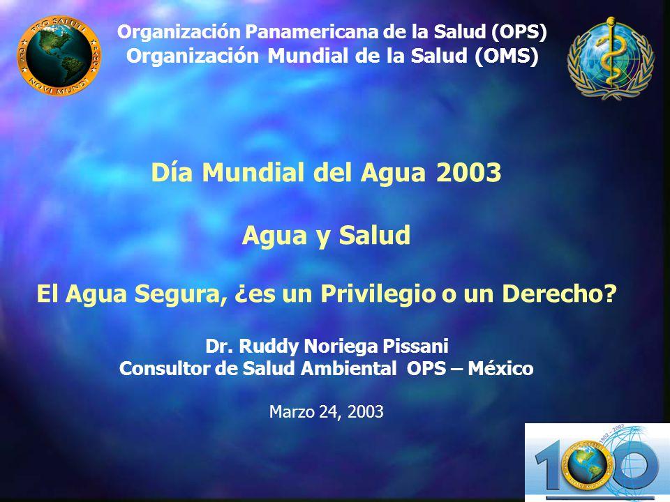 Organización Panamericana de la Salud (OPS) Organización Mundial de la Salud (OMS)