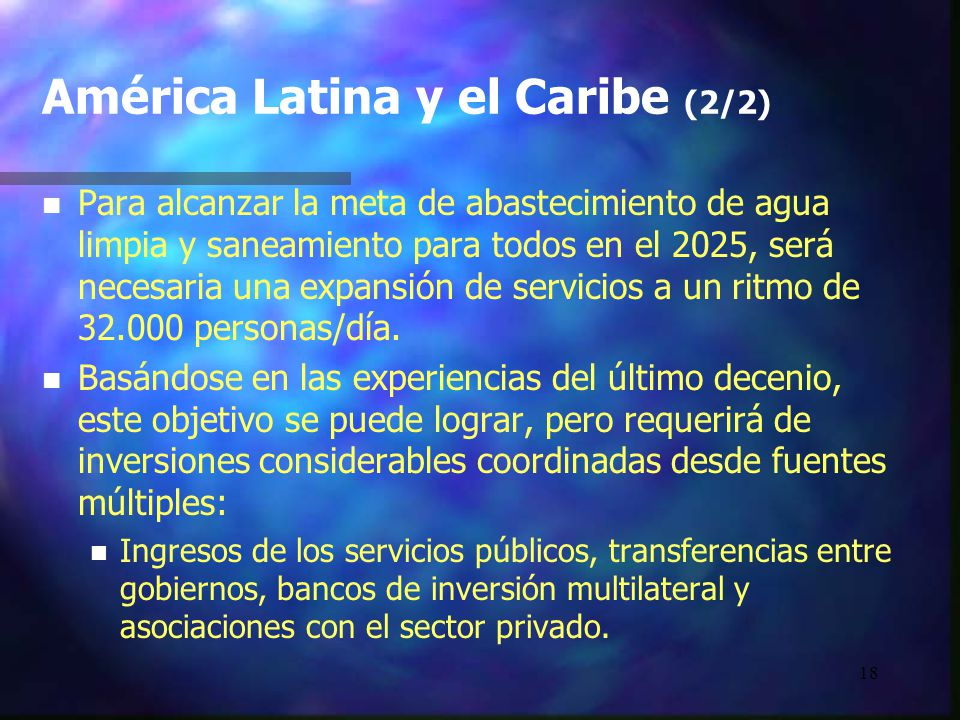América Latina y el Caribe (2/2)