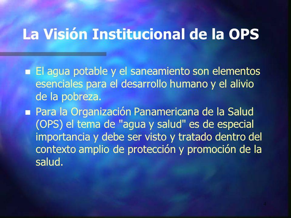La Visión Institucional de la OPS