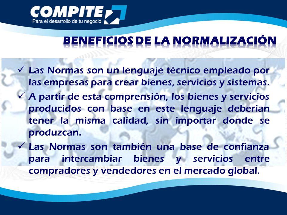 BENEFICIOS DE LA NORMALIZACIÓN
