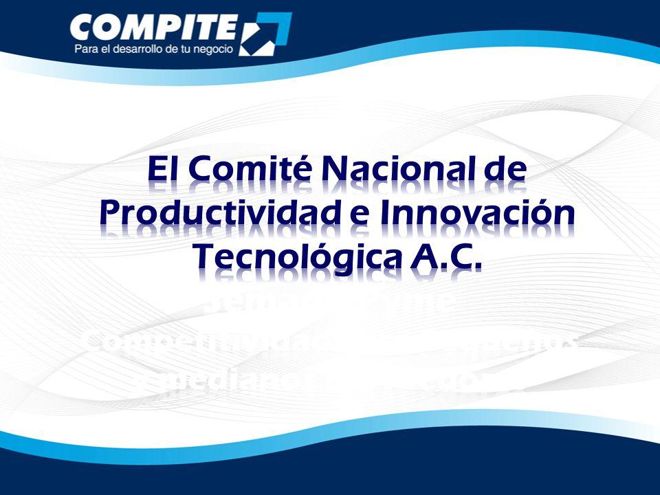 El Comité Nacional de Productividad e Innovación Tecnológica A.C.