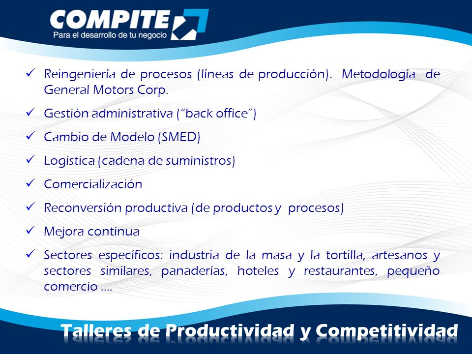 Talleres de Productividad y Competitividad