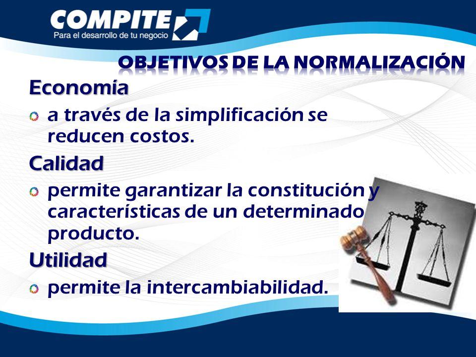 OBJETIVOS DE LA NORMALIZACIÓN