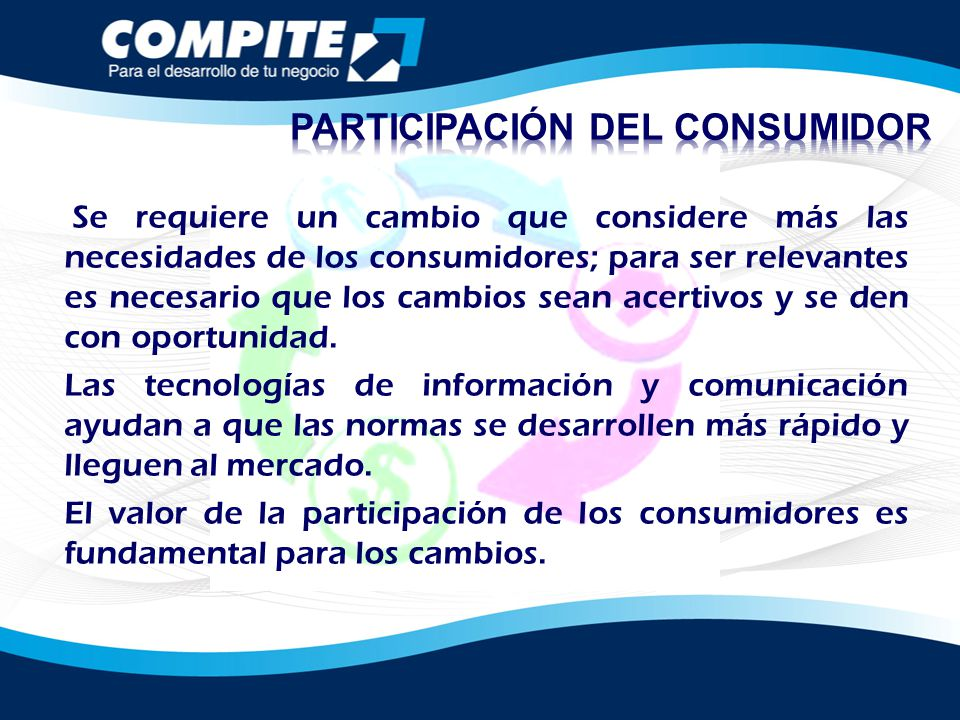 PARTICIPACIÓN DEL CONSUMIDOR