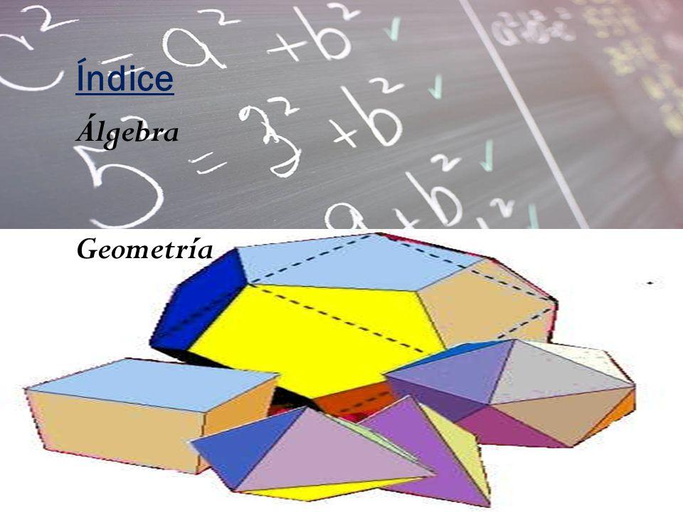 Índice Álgebra Geometría