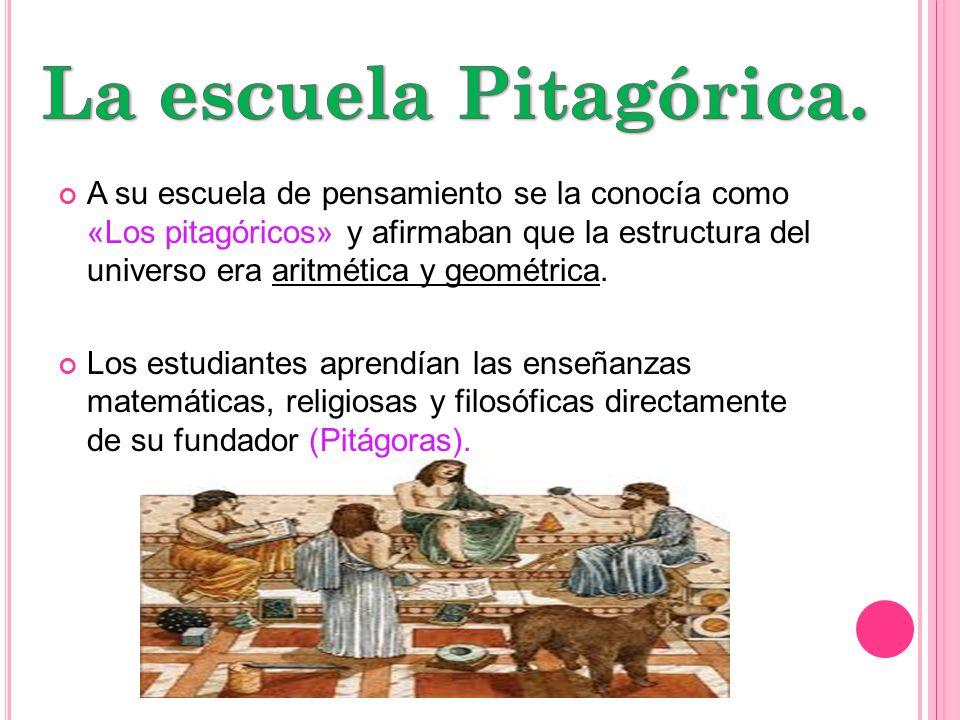 La escuela Pitagórica.
