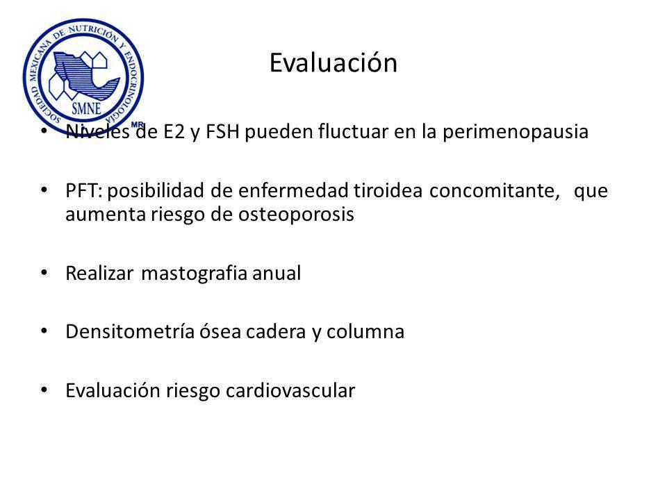Evaluación Niveles de E2 y FSH pueden fluctuar en la perimenopausia