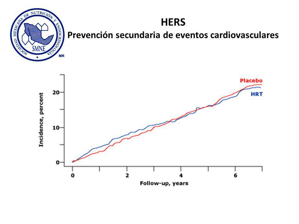 HERS Prevención secundaria de eventos cardiovasculares