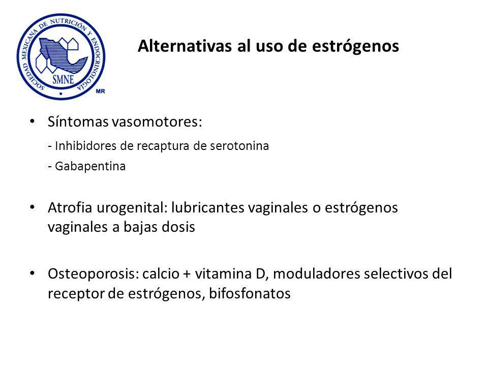 Alternativas al uso de estrógenos