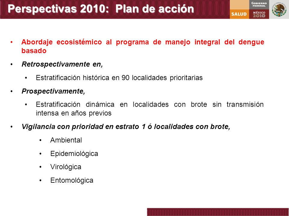 Perspectivas 2010: Plan de acción