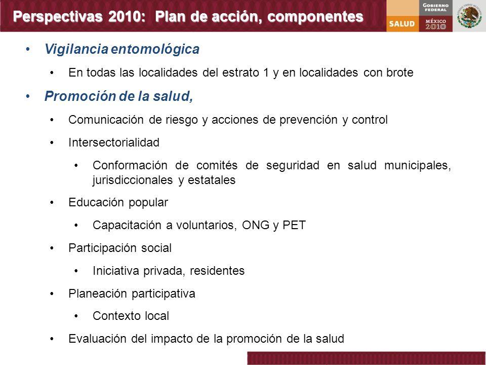 Perspectivas 2010: Plan de acción, componentes