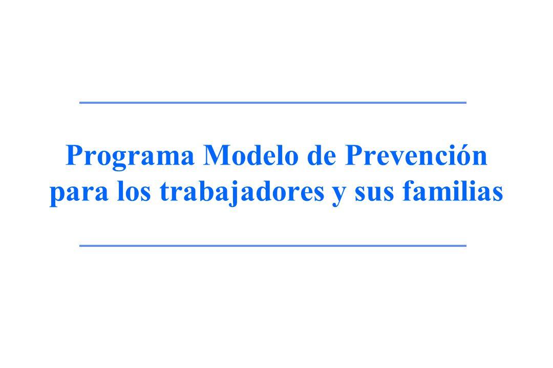 Programa Modelo de Prevención para los trabajadores y sus familias