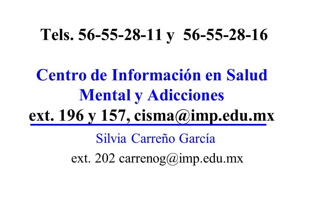 Silvia Carreño García ext. 202 carrenog@imp.edu.mx