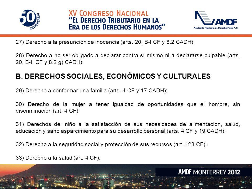 B. DERECHOS SOCIALES, ECONÓMICOS Y CULTURALES