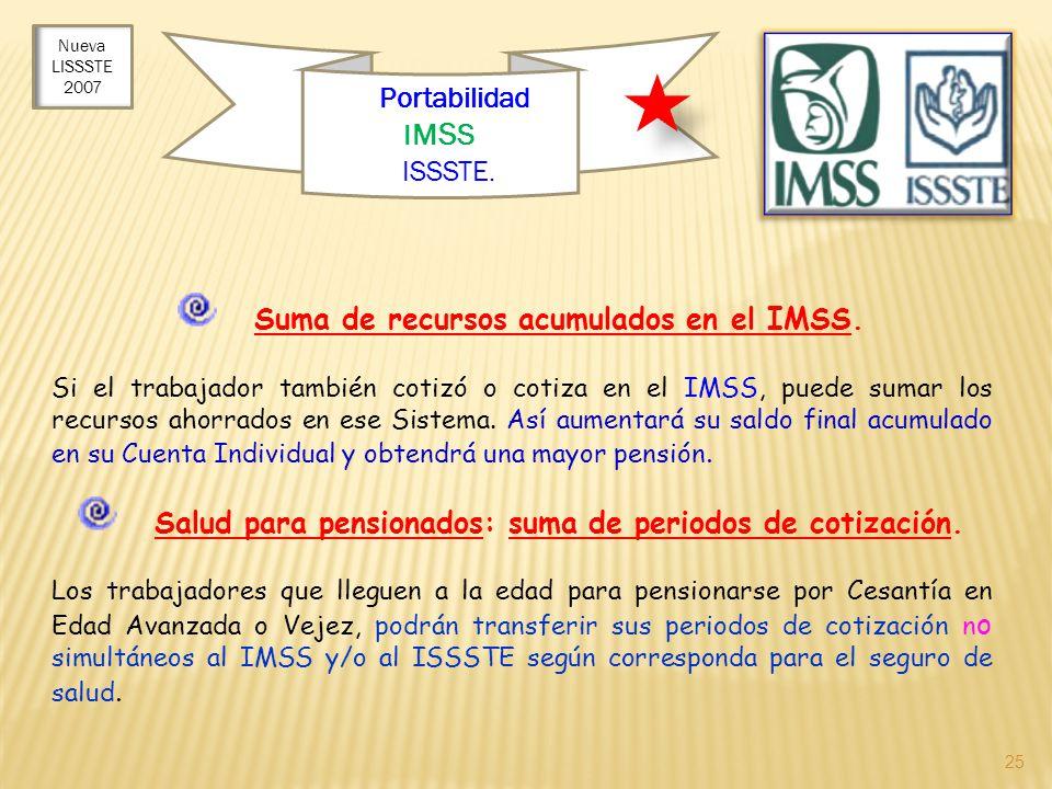 Suma de recursos acumulados en el IMSS.