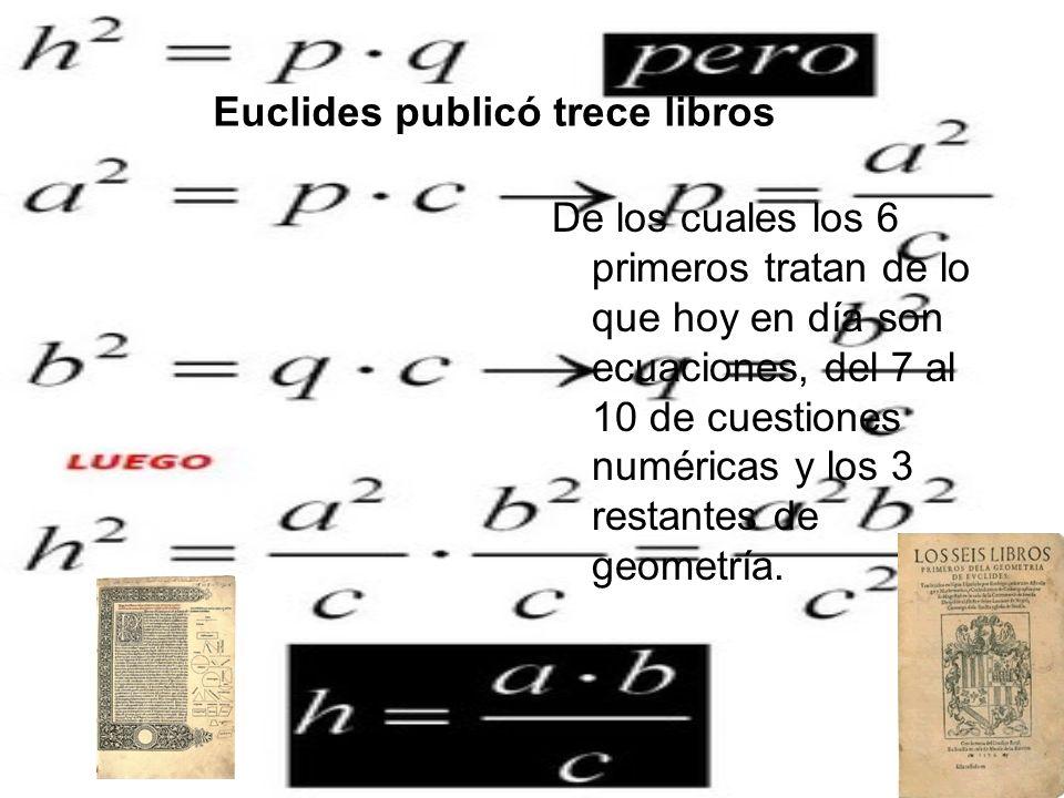 Euclides publicó trece libros