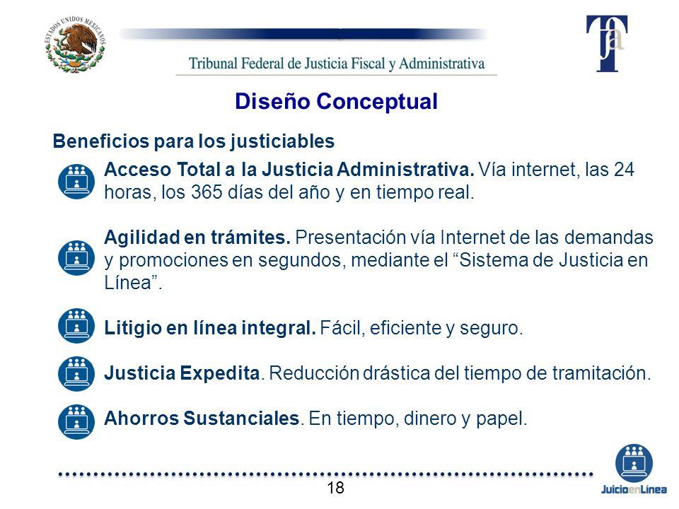 Diseño Conceptual Beneficios para los justiciables